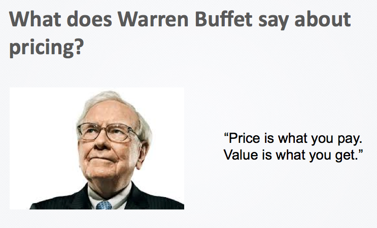 Warren Buffett quotes on pricing