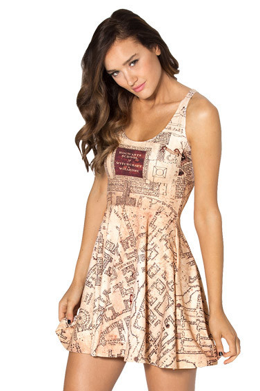 marauder's map dress harry potter