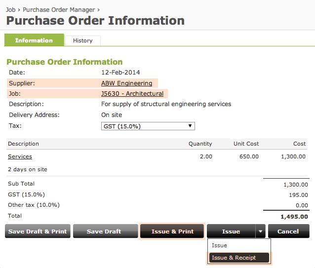 Online purchase order management software
