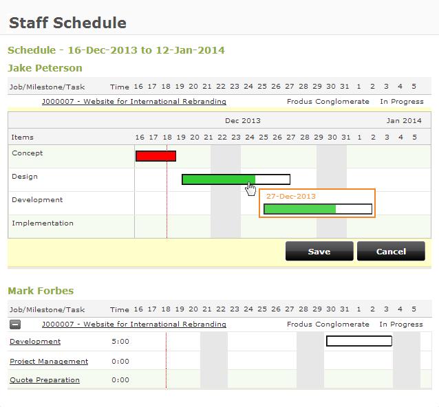Online employees scheduling software