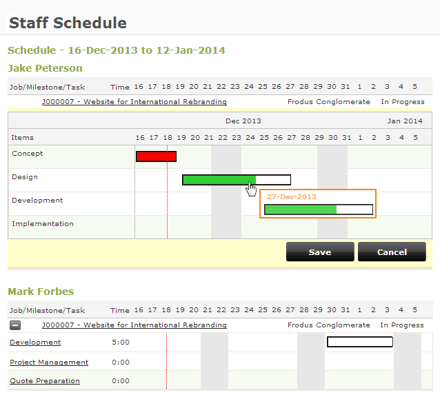 Online employees scheduling software