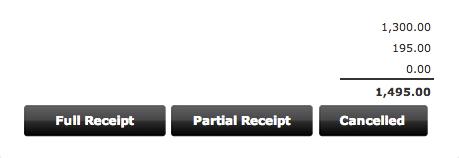 Receive orders in full or in part