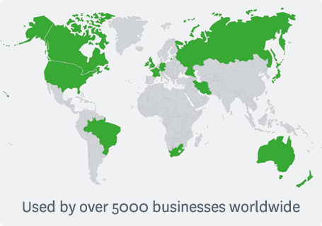 Used by over 5000 businesses worldwide.