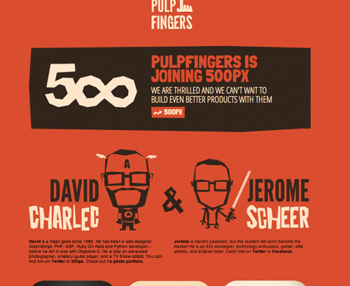 pulpfingers about page