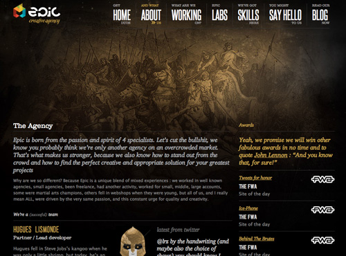 epic agency about page
