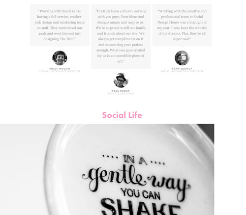 social design about page