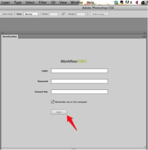 Logging into Adobe Widget