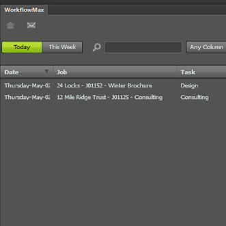 WorkflowMax Adobe Widget
