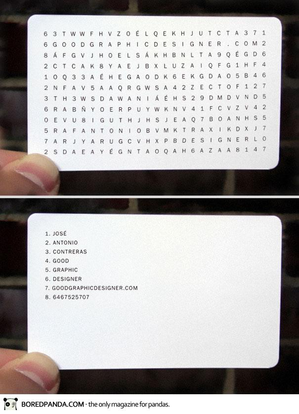 wordfind creative business card