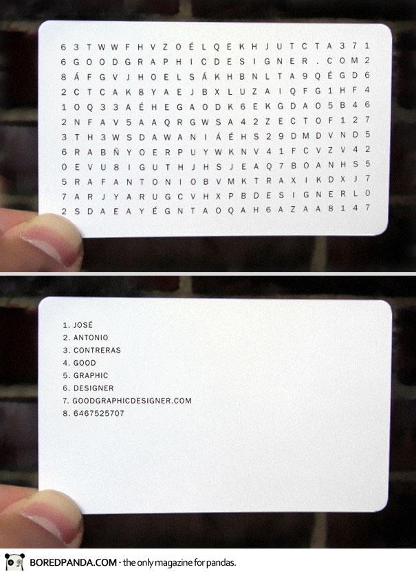 wordfind creative business card