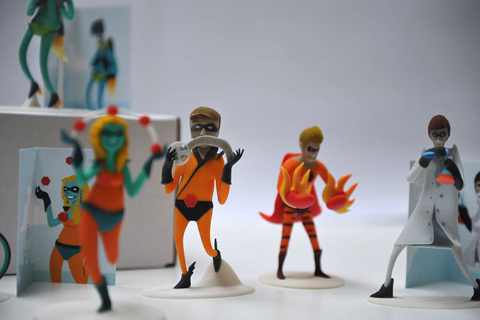 action figure business cards