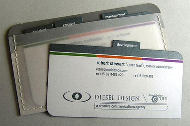 diesal design business cards
