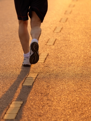 running outside