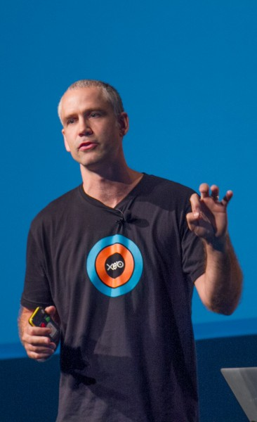 Gavin George speaking at the Xerocon conference about WorkflowMax.