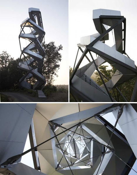 Observation Tower on the River Mur, Austria.