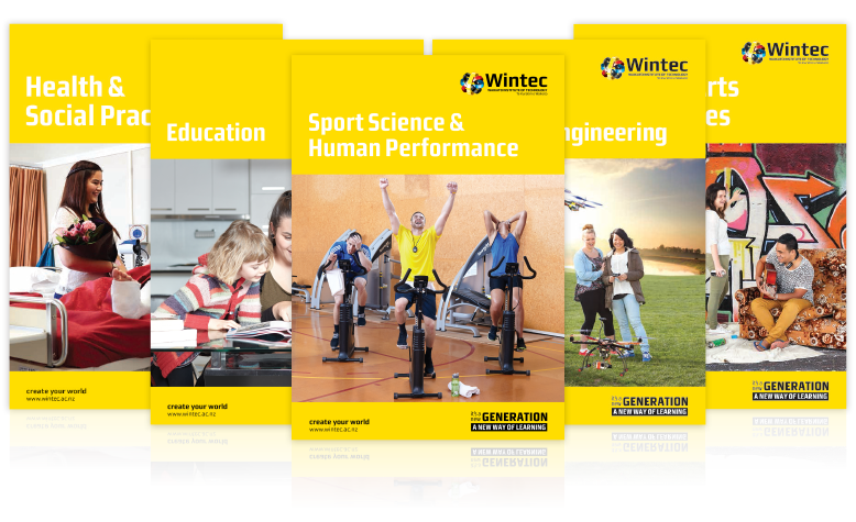 Career booklets for Wintec.