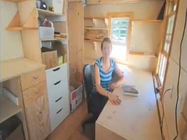 Yale student's tiny house.