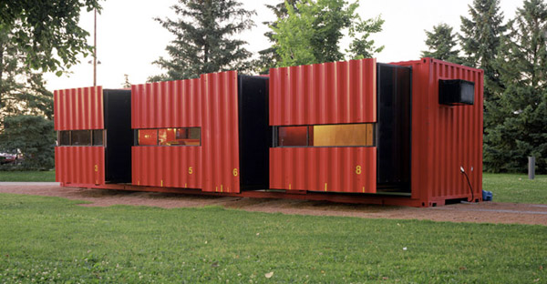 Shipping container architecture.