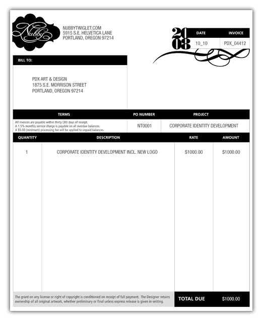 Think Your Invoice Is Boring Here Are The Top Beautiful Designer - Logo design invoice