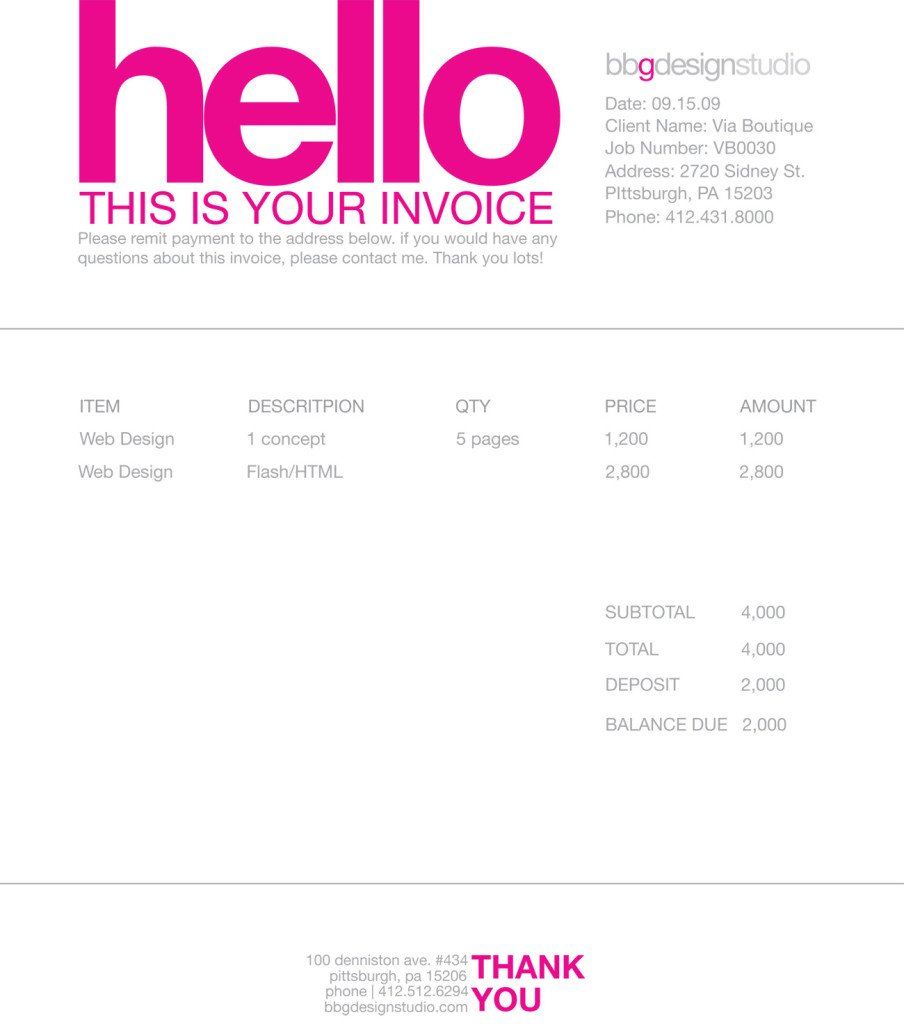 Think Your Invoice is Boring? Here Are The Top 25 Beautiful ...