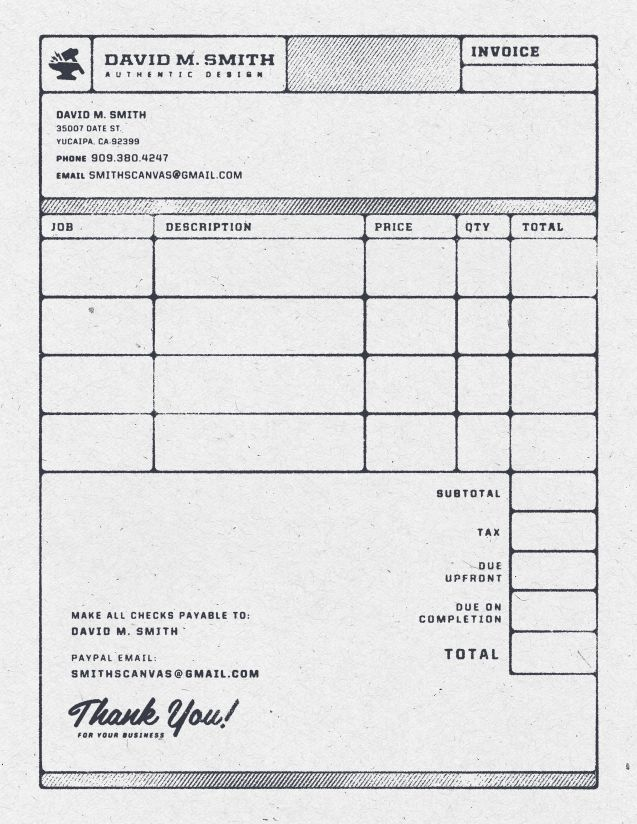 Invoice 11  Graphic Design Invoices