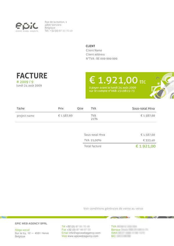 think your invoice is boring? here are the top 25 beautiful, Invoice templates