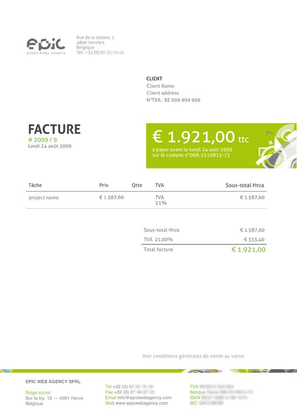 best invoice template excel