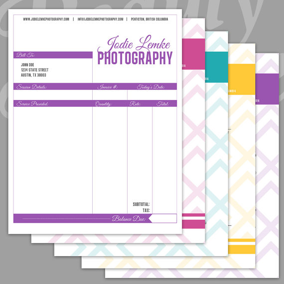 Think Your Invoice is Boring Here Are The Top 25 Beautiful – Photography Invoice