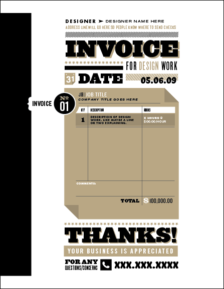 think your invoice is boring? here are the top 25 beautiful, Invoice examples