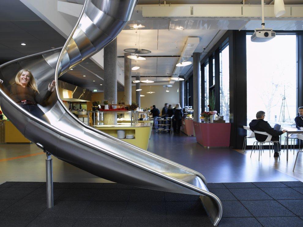 creative agency office. Google-zurich-break-room-slide Creative Agency Office