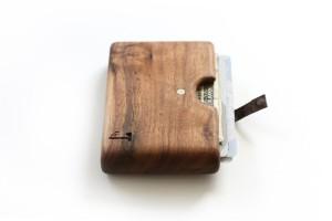 Walnut wood wallet, Slim Timber.