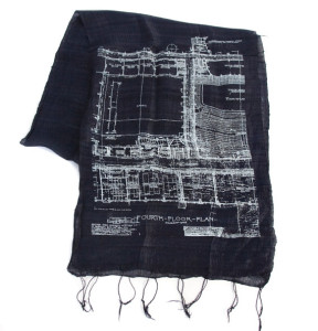 Blueprint scarf