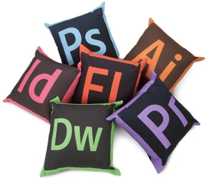 Creative Cloud pillows.