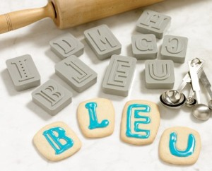 Letterpress cookie cutters.