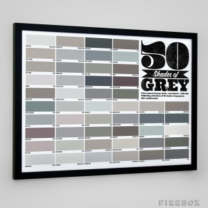 50 Shades of Grey poster.