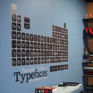 Typeface Periodic Table decal.