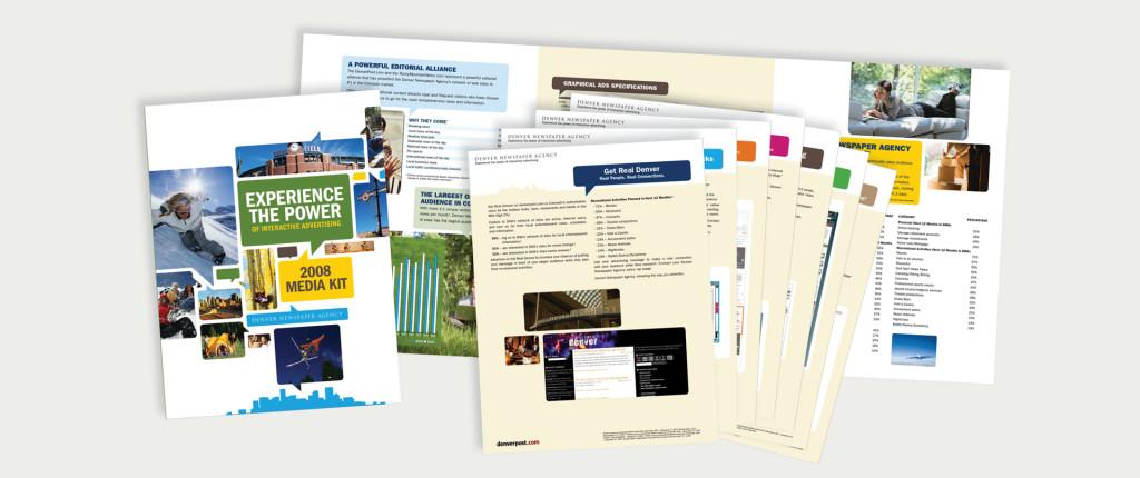 Denver News Agency Media Kit, by Little John Creative.