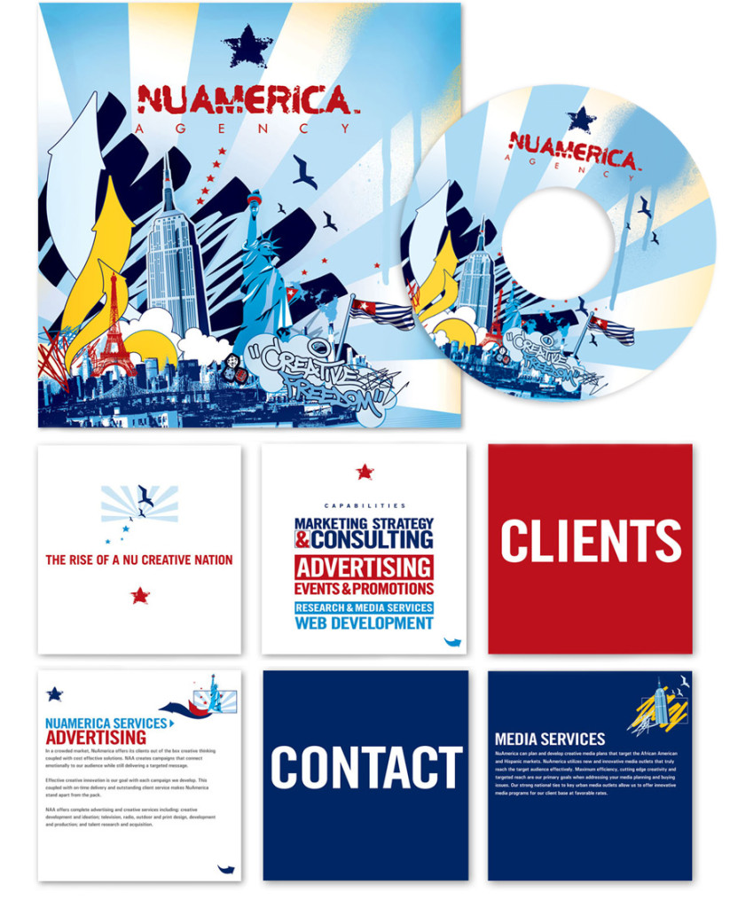 Nuamerica media kit, by SuperFreshDesign.