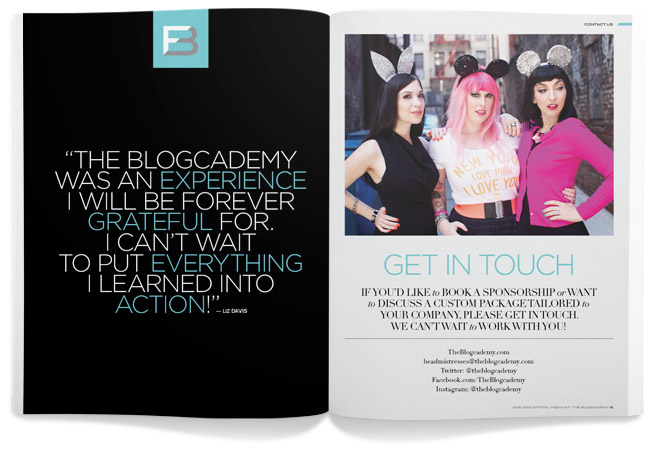 Blogcademy Media Kit, by Branch.