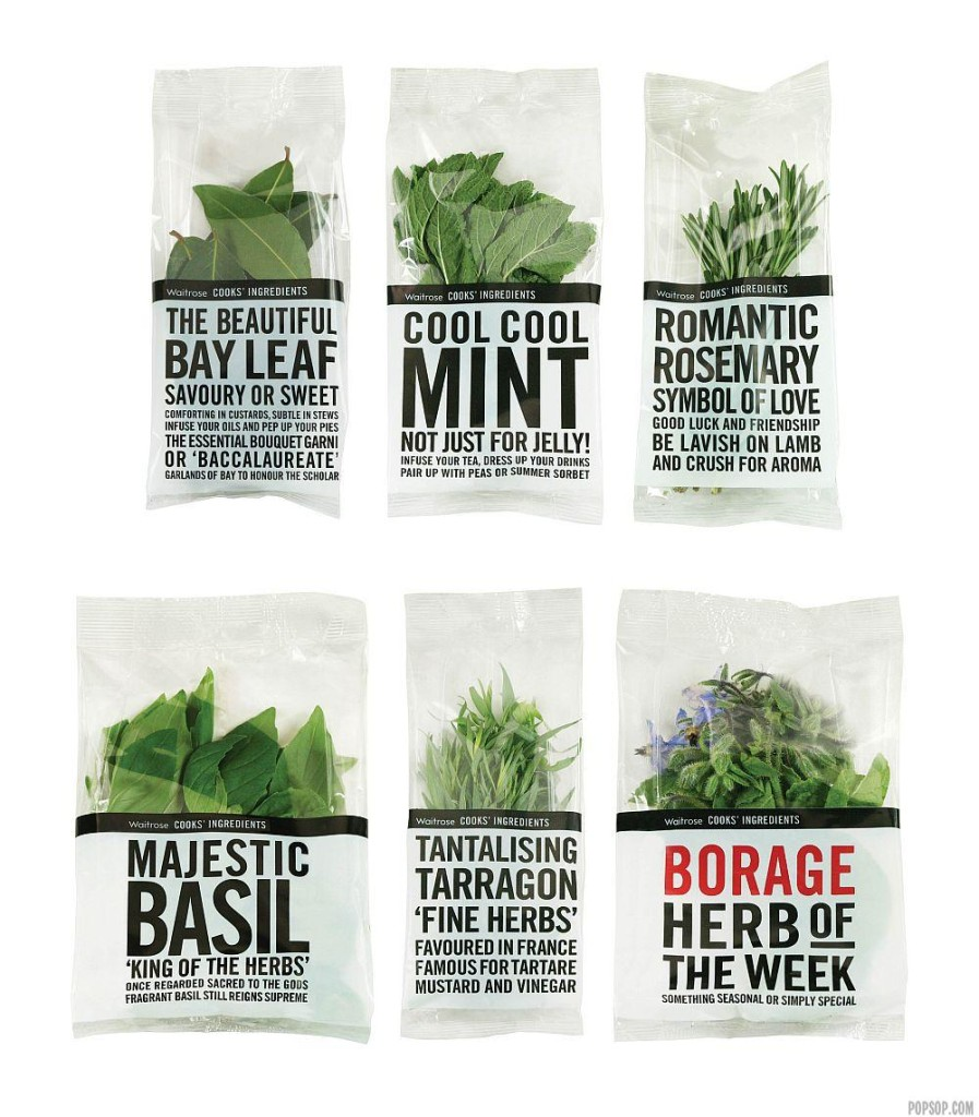 These Waitrose Fresh Herbs won the Bronze Award in the EDAwards for Packaging Design