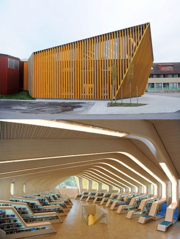 Beautiful modern library