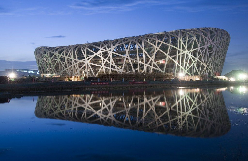 Beijing National Stadium, Beijing, China.