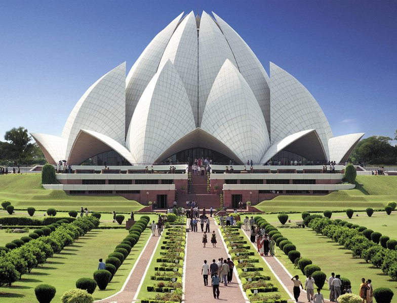 Lotus temple, Delhi, India.