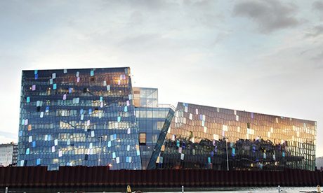 Harpa Concert Hall and Conference Centre, Reykjavik, Iceland.