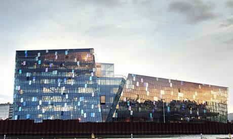 Harpa Concert Hall and Conference Centre, Reykjavik, Iceland.