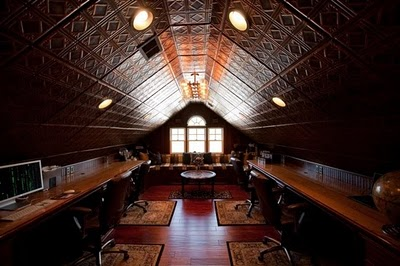 steampunk office.