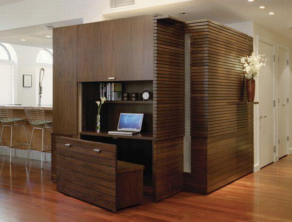 Foldaway office.