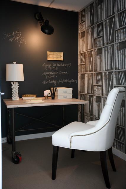 Blackboard office wall.