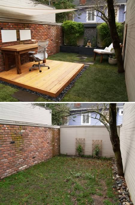 backyard office.