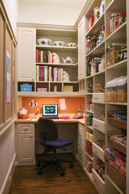 Clever home office storage.